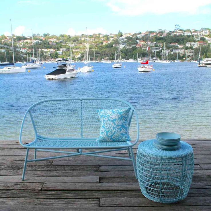 Varese Sofa - Petite Retreat  Small Balcony Furniture  Cane / Rattan style sofa. Made from aluminium and polywicker.  Get the look without the maintenance!
