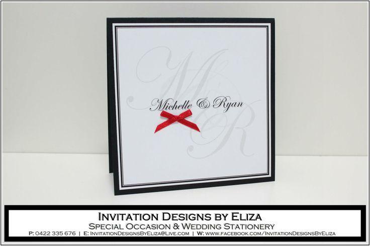 Invitation Designs  {Wedding} Black, White & Red Theme https://www.facebook.com/InvitationDesignsByEliza