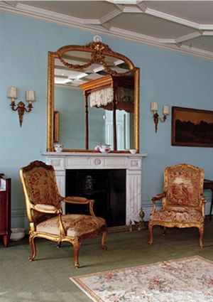 Downton Abbey's Lady Grantham's room in Ethereal Blue Paint Color - Bob Vila