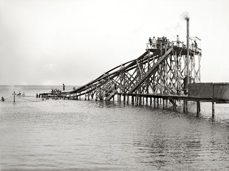 Water Slides - Lake Erie Circa 1904