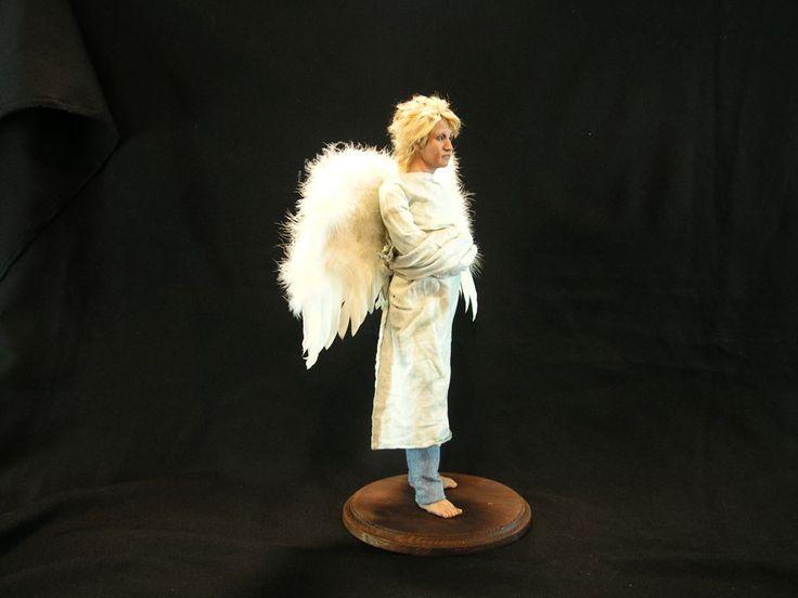 Купить АНГЕЛ - полимерная глина ливингдолл (living doll), ткань, мохер, роспись