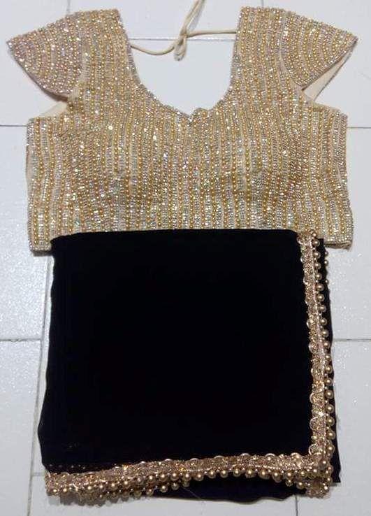 Designer Bridal Sari Party Wear Jorjet Ethnic Heavy Diamond Work Blouse Saree 35 #GoyalSarees #PartyWear