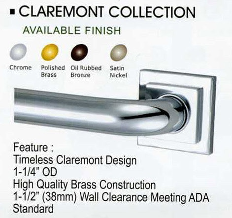 ADA compliant Grab Bars from Newport Brass, Fusion and Elements of Design