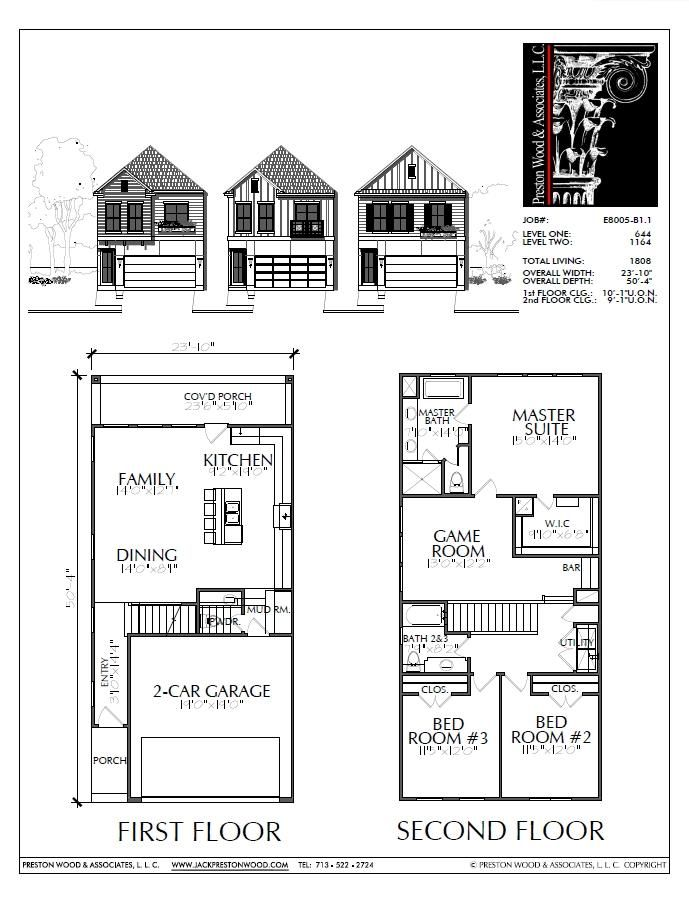 Two Story Home Plan E8005 B1 1 House Plans How To Plan Two Story Homes