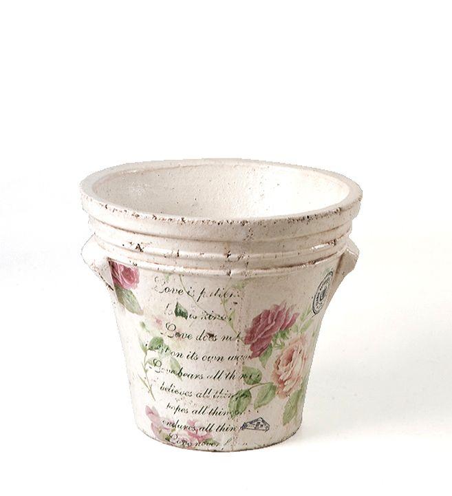 Flower pot #outdoor #decoration for #home by #ZAROS www.zarossa.gr