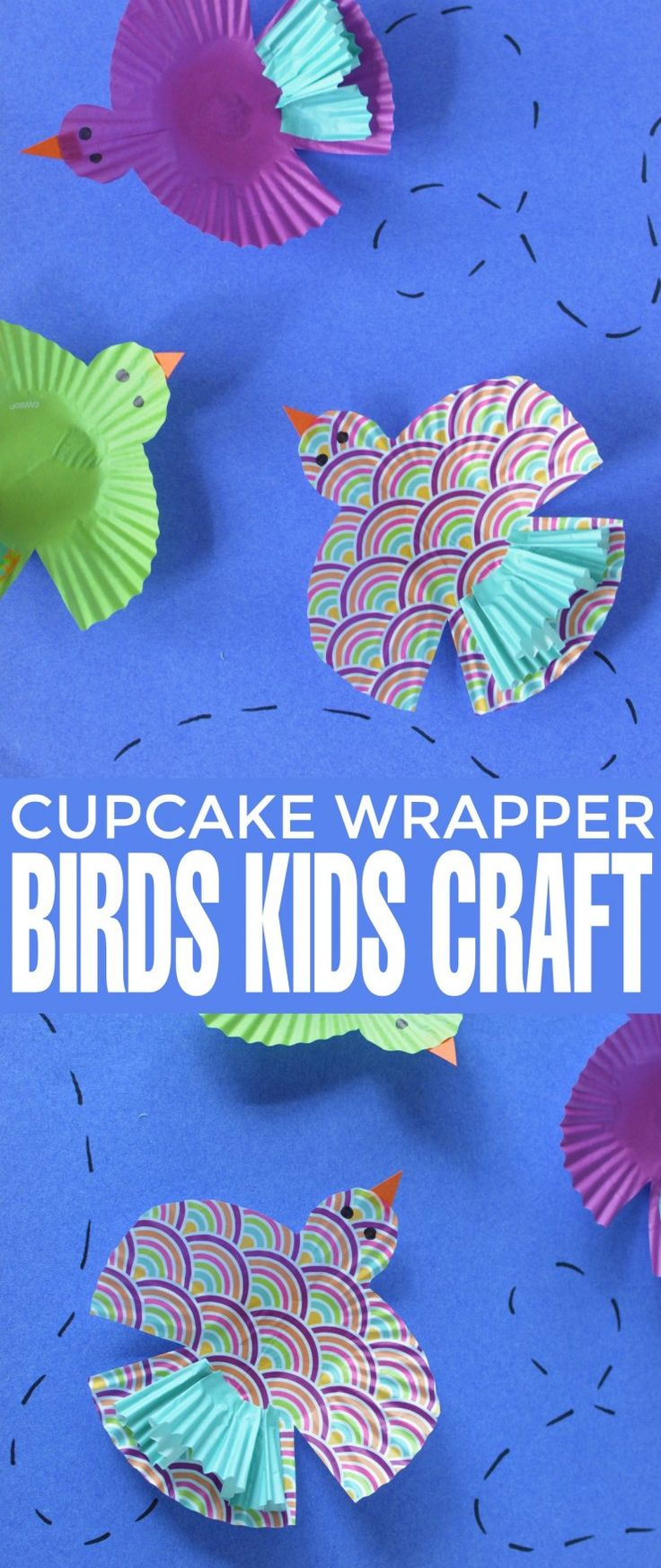 This delightful bird kids craft makes use of vibrant and fun craft materials to create a cupcake liner craft that kids will love.