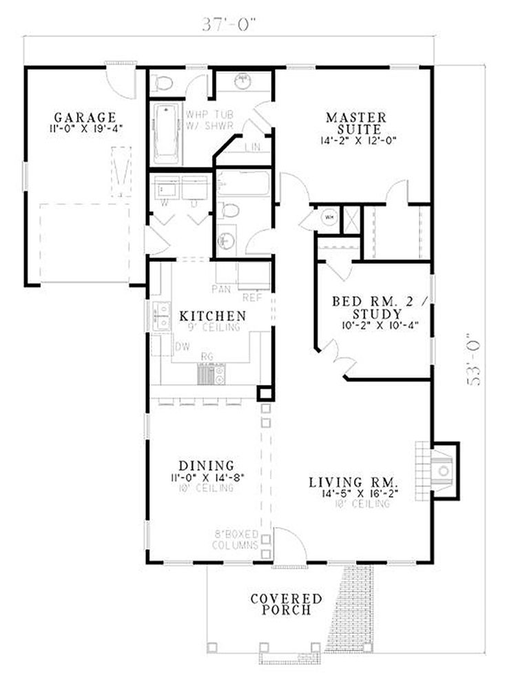 classical style house plan 2 beds 2 baths 1172 sqft plan 17 best house planssmall