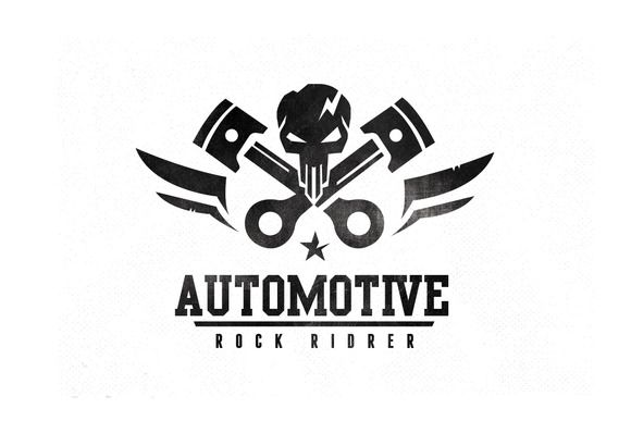 Automotive Logo by Super Pig Shop on Creative Market