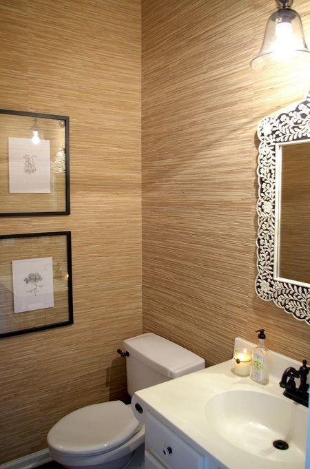 love grasscloth wallpaper! hmmm for powder room or bedroom?