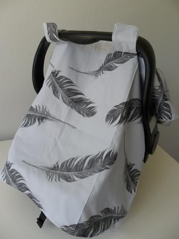 """""""Feathers Fly"""" Capsule & pram cover"""