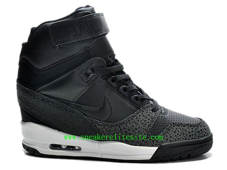 Nike Air Revolution Sky Hi -Chaussures Pas Cher Pour Femme/Fille Noir  599410-