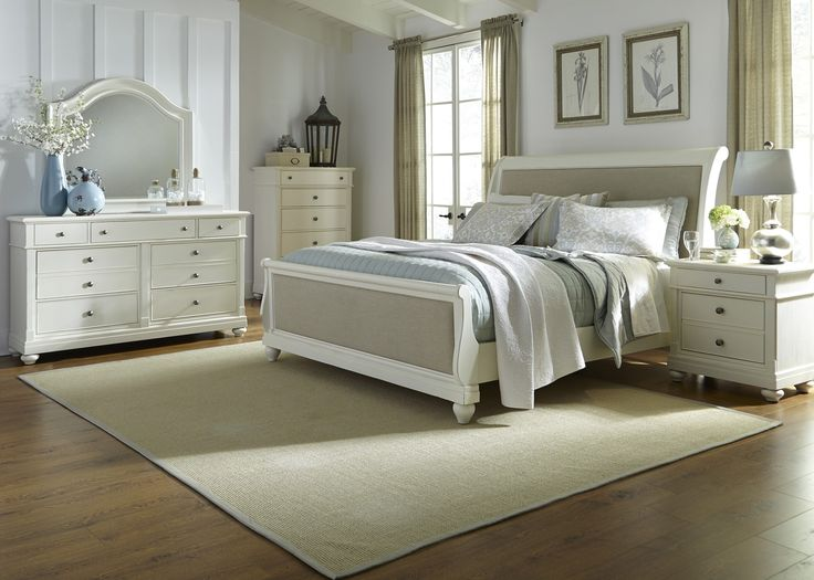 ANTHONY & TIM'S ROOMS: Harbor View Sleigh Bedroom Set (White)