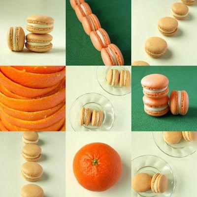 CHEZ LUCIE: Jour du Macaron - Macarons s bílou čokoládou a mandarinkovým želé