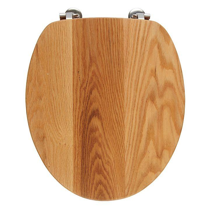 Buy John Lewis FSC Solid Oak Contemporary Toilet Seat Online at johnlewis.com
