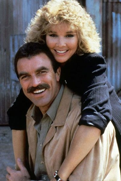 Cynthia Rhodes and Tom Selleck