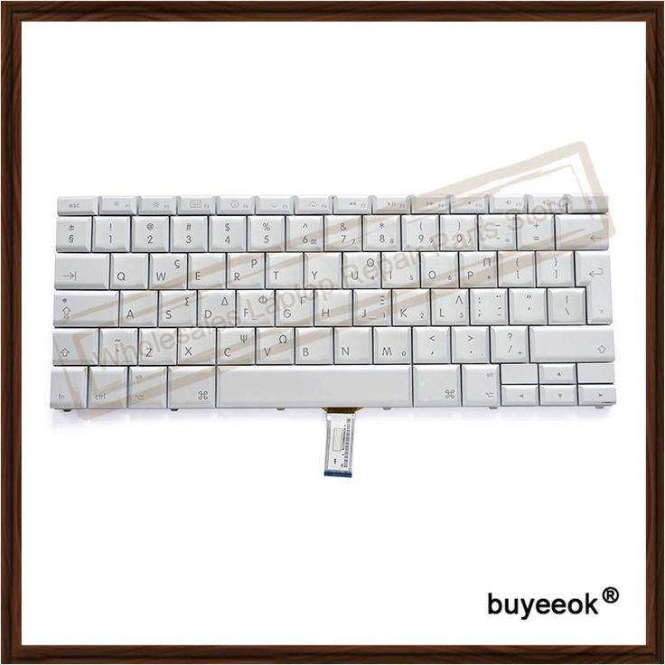 Original Silver Laptop Greece Keyboard Replacement for Apple MacBook Pro 15""