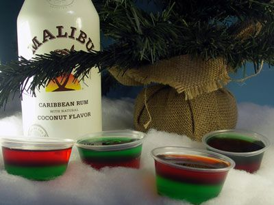 Christmas Jello SHots. Several great recipes for holiday shots here: Home Style with a Side of Gourmet