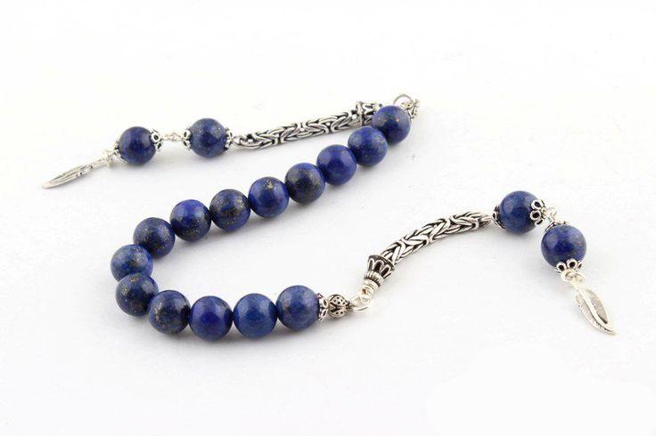 Lapis Lazuli Taşı Zaza Tesbih 925 Ayar Gümüş Püsküllü 94,00 TL Kdv Dahil