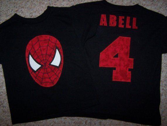 Birthday spiderman shirt