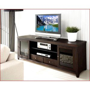 Espresso Tv Stand | ...  Console Espresso Wood Entertainment