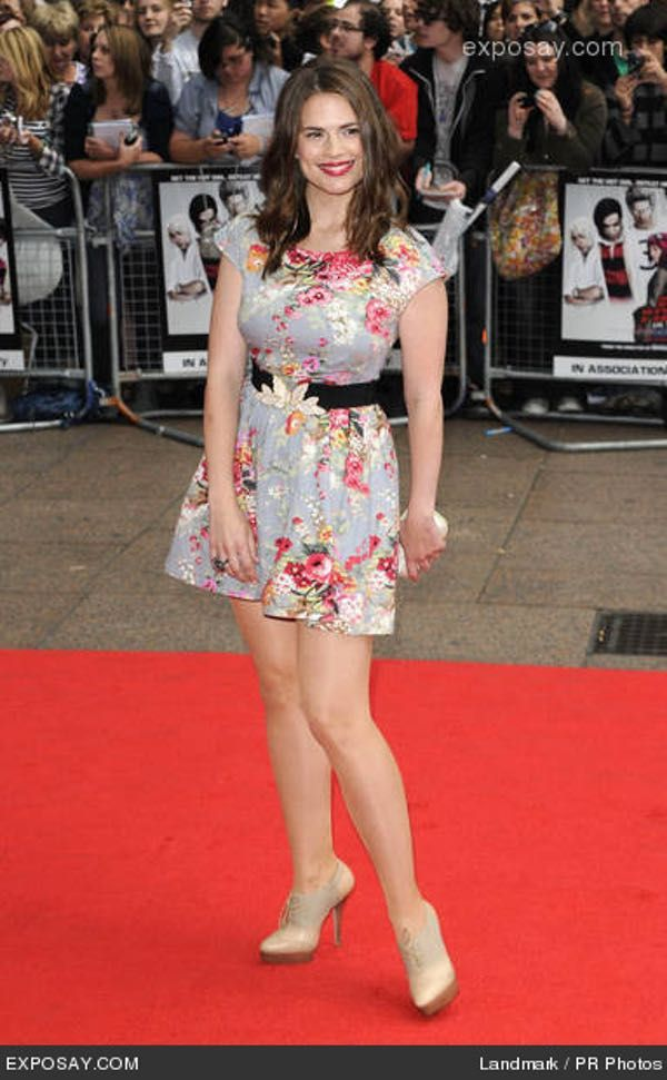Hayley Atwell in Floral Skater... is listed (or ranked) 3 on the list Hottest Hayley Atwell Photos