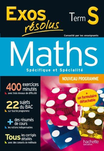 Exos résolus - Maths Terminale S - Enseignement obligatoi... https://www.amazon.fr/dp/2011608376/ref=cm_sw_r_pi_dp_POzHxbA332Q79