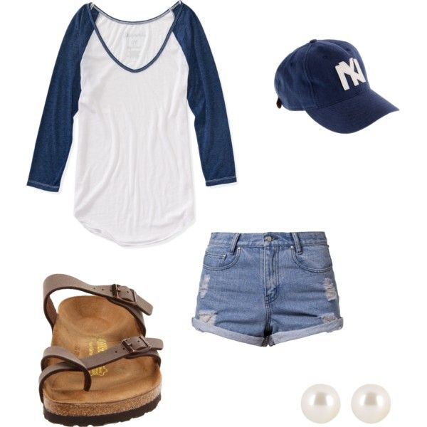 A fashion look from March 2014 featuring Aéropostale t-shirts, Somedays Lovin shorts and Birkenstock sandals. Browse and shop related looks.