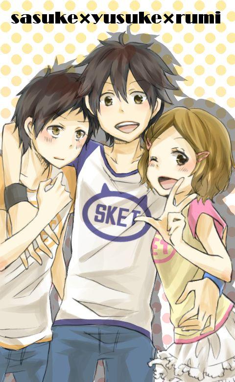 Tags: Anime, SKET Dance, Fujisaki Yusuke, Brother And Sister, Tsubaki Sasuke, Pixiv Id 898861, Fujisaki Rumi