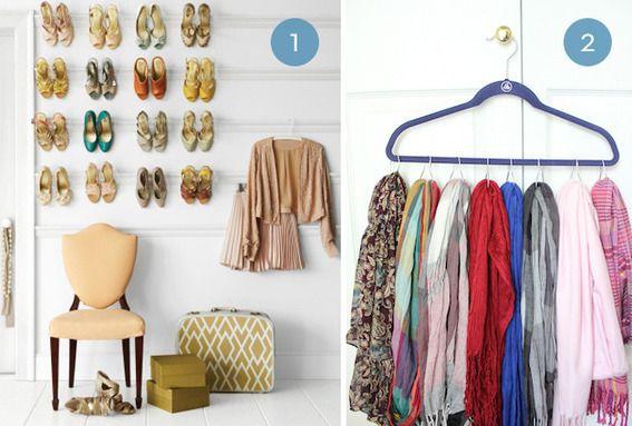 Genius closet organizing ideas.