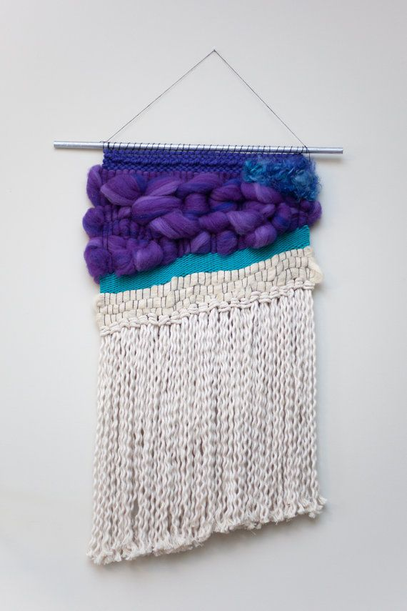 violetta / tapestry wall hanging with tassels / by habitstudio