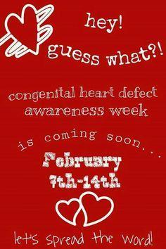 Feb - Heart Month - CHD Awareness Week