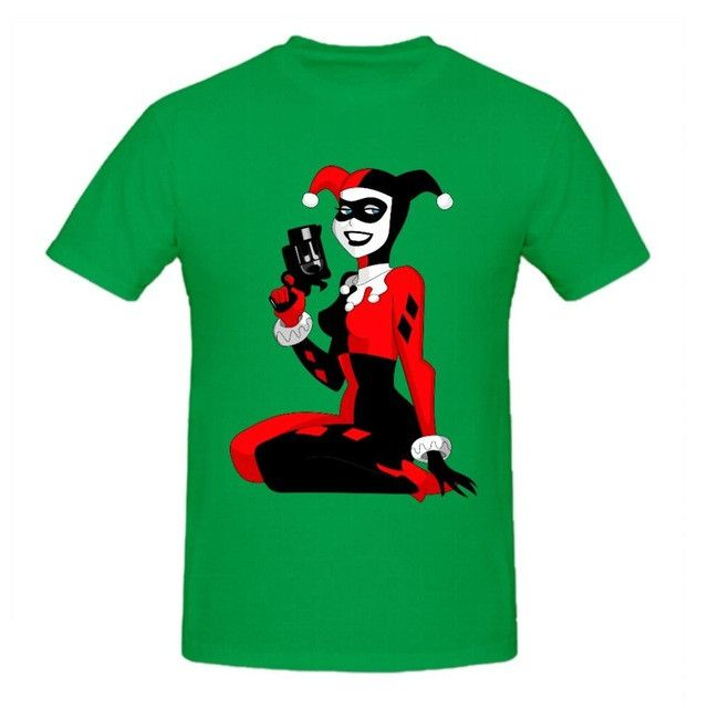 RTTMALL Fashion Brand T-shirt Hip Hop 3d Print Skulls Harajuku Animation T shirt Organic Cotton Harley quinn Red Retro Men Shirt