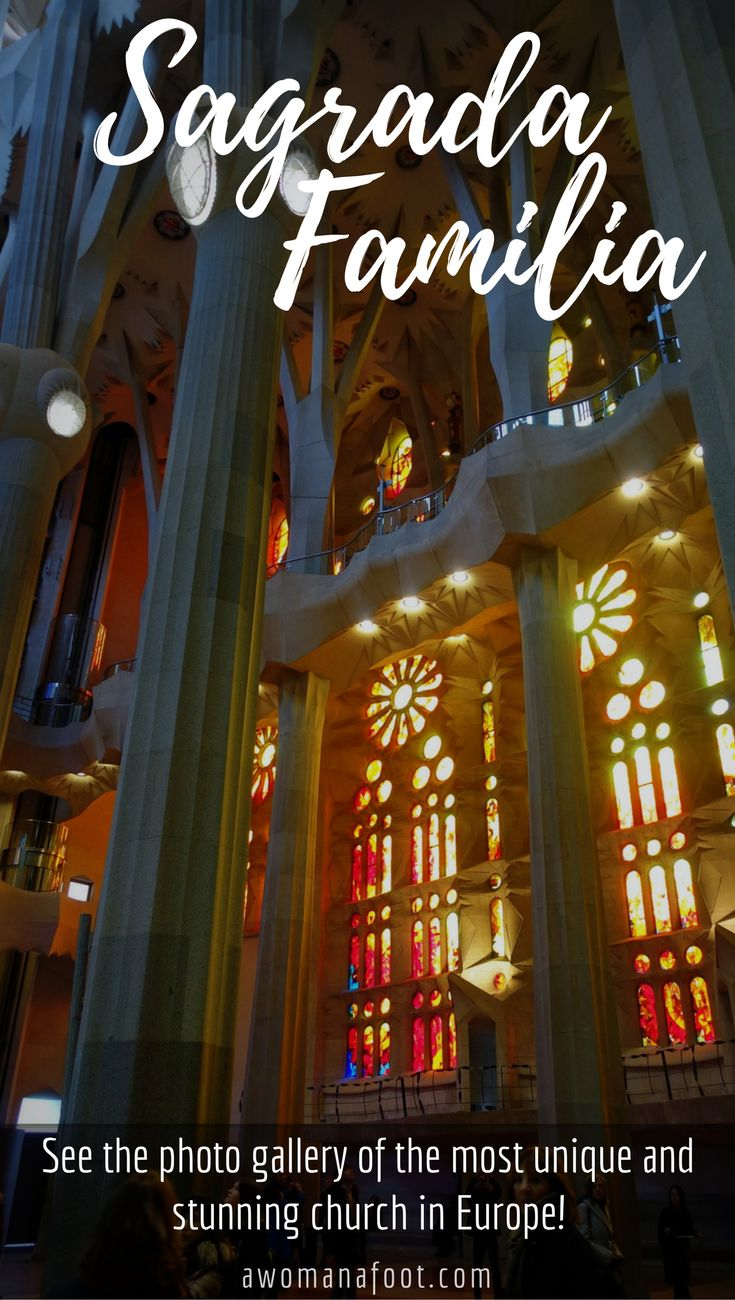 Sagrada Familia: see the gallery of the most unique and stunning church in Europe! Barcelona, #Spain | Gaudi | what to see in #Barcelona | Best in Barcelona | Is it worth to see Sagrada Familia? | #travel | Awomanafoot.com
