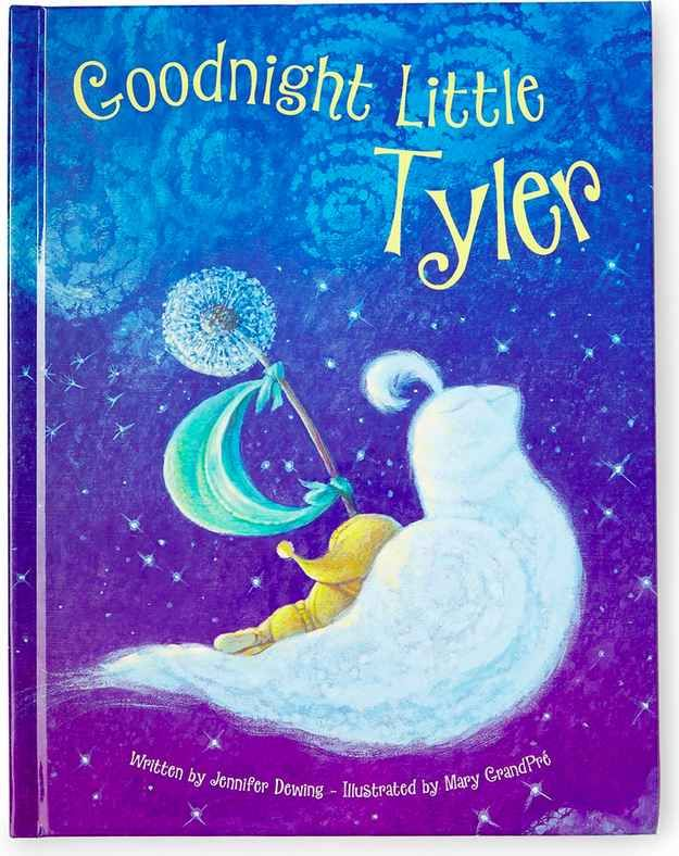 "A personalized ""Goodnight Little Me"" book."