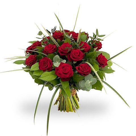 #Boeket rode rozen groot