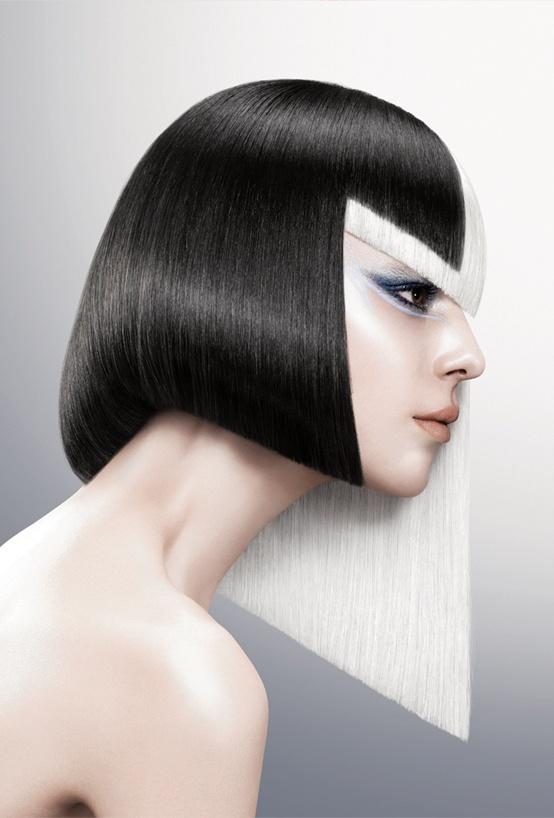 【VS Sassoon 2012年春夏俐落線條】棱銳塑型 - 秀麗順滑的長髮,配上特色的俐落剪法,以線條突出個性宣言