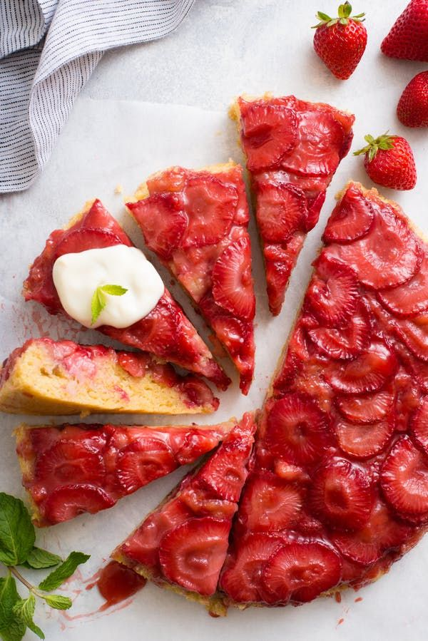 http://www.thekitchn.com/recipe-upside-down-strawberry-skillet-cake-244332