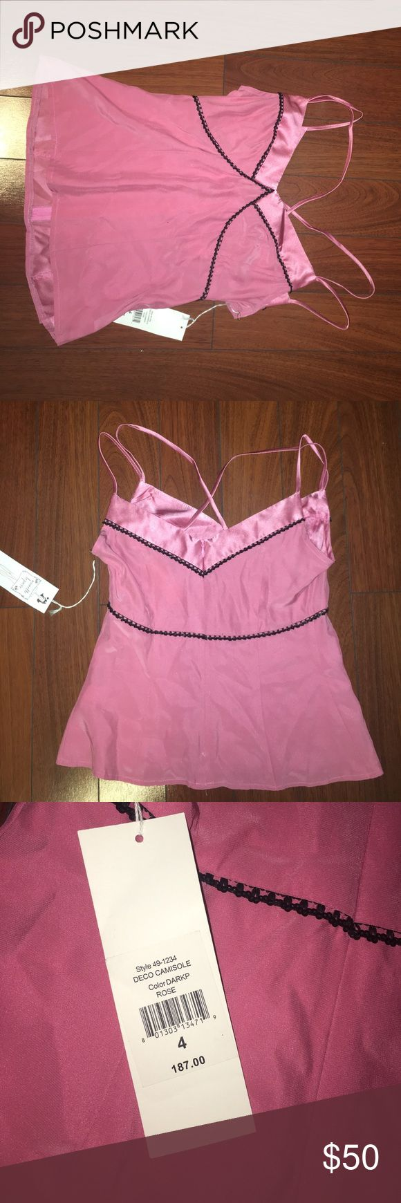 Pink strappy top Zipper on the side. Tags still on Nanette Lepore Tops Tank Tops