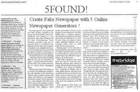 Newspaper article maker