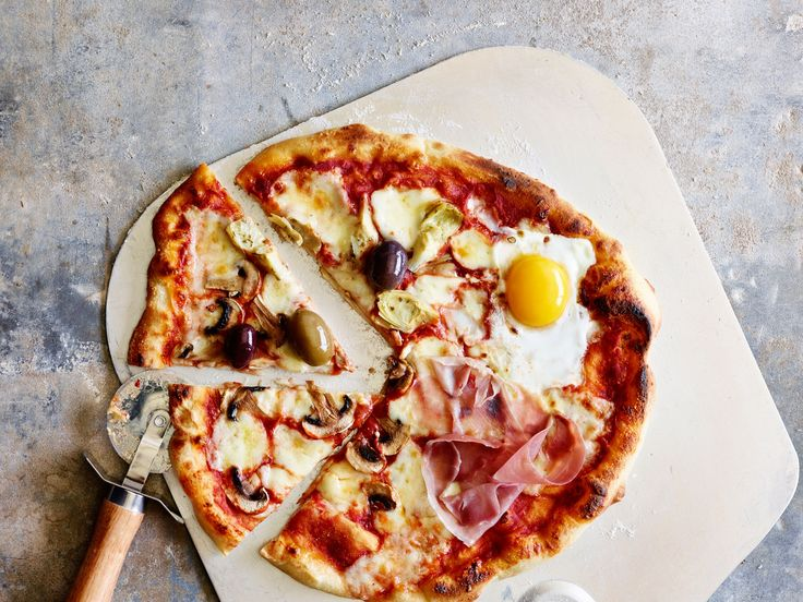 Pizza Romana - Thin crust Roman-style pizza.
