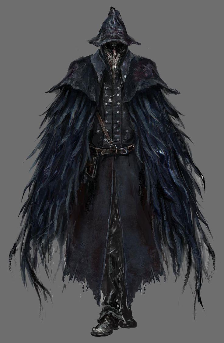 Bloodborne Concept Art - Raven Hunter
