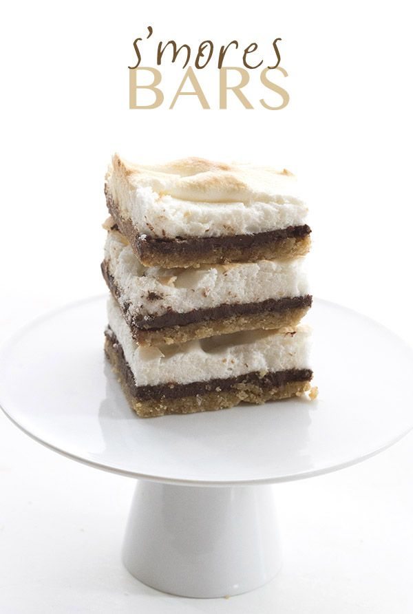 treat gets a low carb, gluten-free makeover! These s'mores bars ...