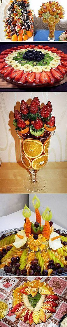 Copy Strawberry, Banana, Kiwi, and Grapes Preseentation