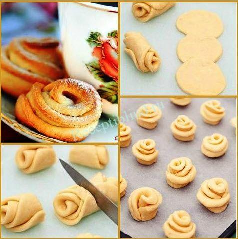 Как сделать булочки розочки с маком