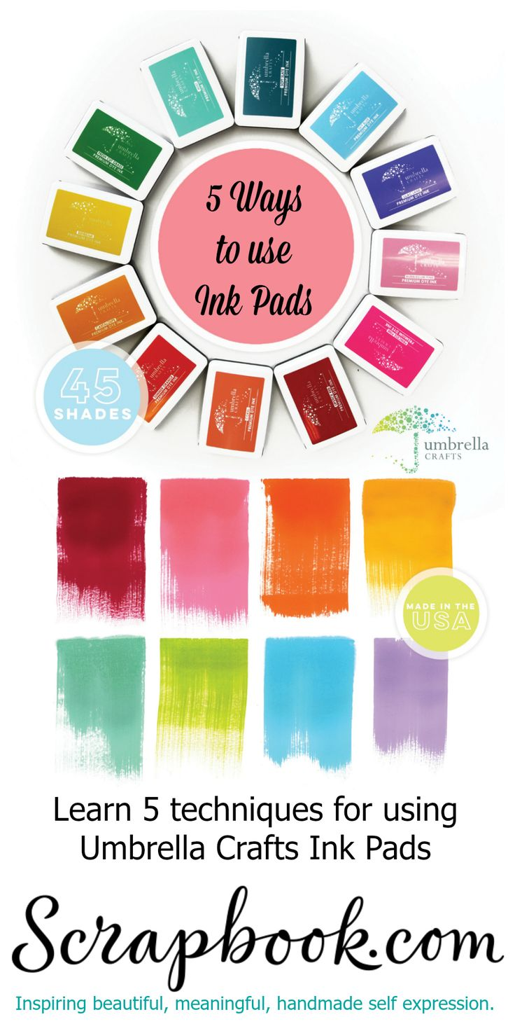 Scrapbook ideas rainbow - Looking For A Rainbow Of Ink Colors Look No Further Umbrella Crafts Features 45 Vibrant Ink Colors For All Your Stamping Needs Get Yours Today