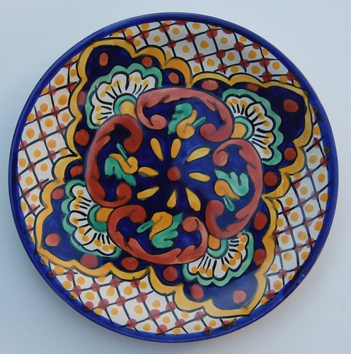 """Traditional Mexican 8"""" Plate Design 6"""