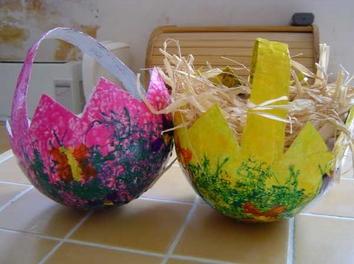 Tuto panier pour oeufs de Pâques - par Mamoune sur le #CDB