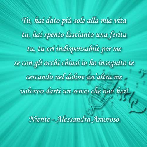 Niente - Alessandra Amoroso https://www.facebook.com/musicorner/