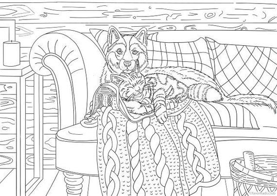 Guardian Printable Adult Coloring Page From Favoreads Coloring