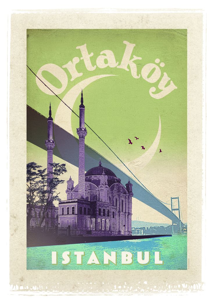 One of our favorite Istanbul neighborhoods, love this old print!